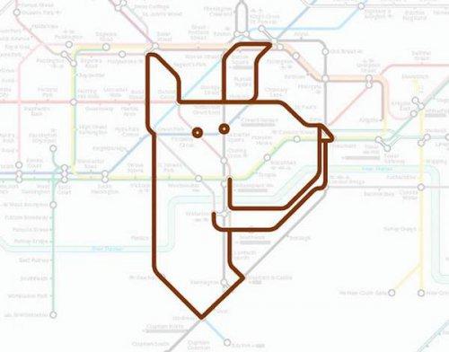 Животные лондонской подземки (16 фото)