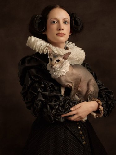 Очаровательные портреты в духе фламандской живописи (10 фото)