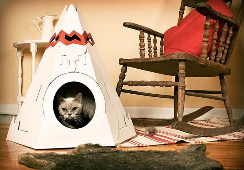 Выкройки Домиков Для Кошек