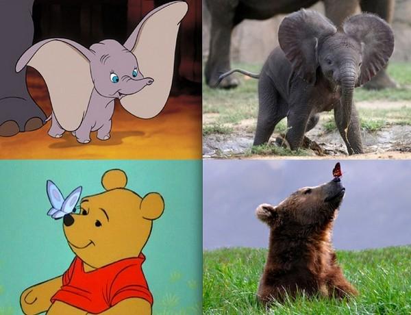 Животные из мультфильмов в...