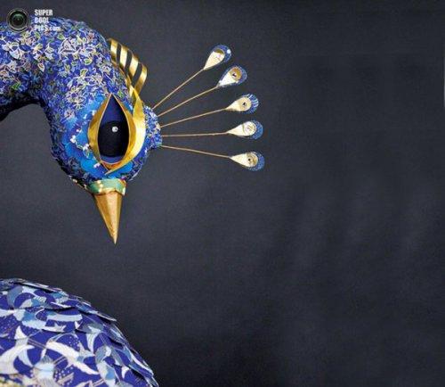 Чудесные птицы из бумаги (7 фото)