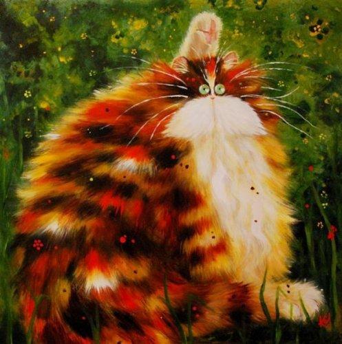 Забавные коты и кошки от Ким Хаскинс (16 фото)