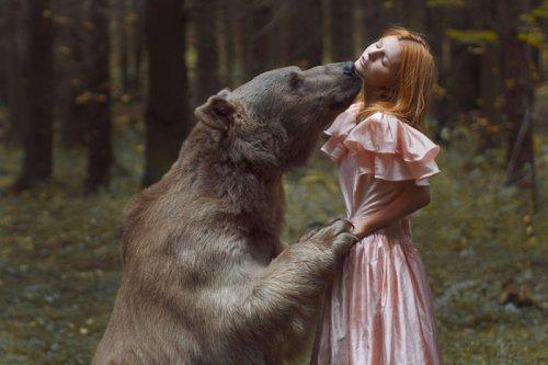Опасные портреты с дикими животными от Катерины Плотниковой (19 фото)