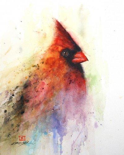Птицы и звери в акварели Дина Крузера (25 фото)