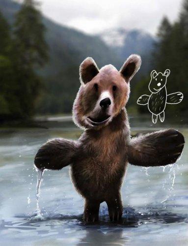 Реальные животные из детских рисунков (8 фото)