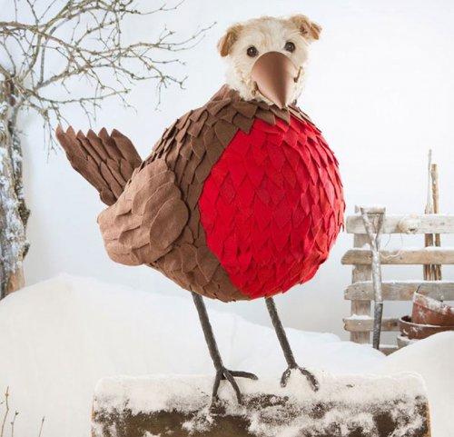 Новогодняя фотосессия пса по кличке Раггл (9 фото)