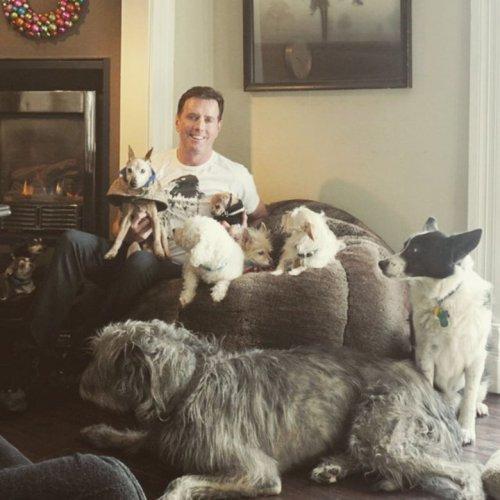 Мужчина, который живет с 10 собаками и поросёнком (30 фото)