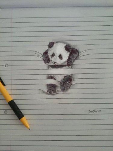 Очаровательные животные на линованной бумаге (7 фото)