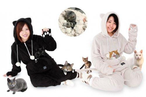 Практичный костюм для любителей котиков (9 фото)