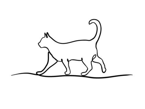 Рисунки животных одной линией от David Hallangen-Lake (19 фото)