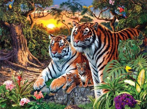 Головоломка: Найди 16 тигров