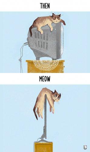 Юмор : Как технологии безвозвратно изменили жизнь котиков (10 фото)
