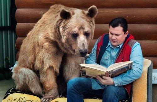 Дружба людей и медведя (14 фото)