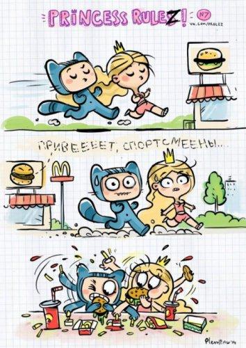 Комиксы про Принцессу и Котика (8 фото)