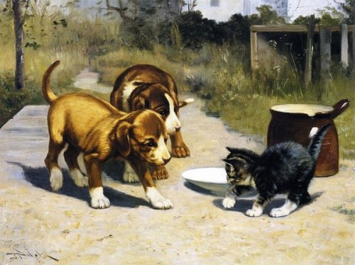 Кототворчество американского художника John Henry Dolph (22 фото)