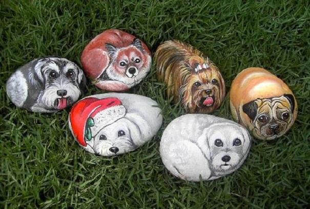 Чудесные рисунки животных на камнях (25 фото)