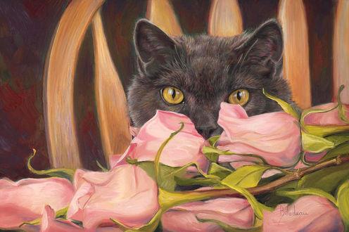 Забавные коты поздравляют милых дам с 8 Марта! (20 фото)