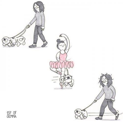 Забавные комиксы про то, каково жить с собакой (17 фото)