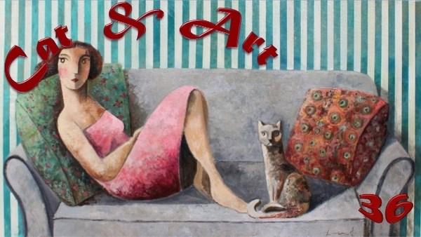 Женщины и кошки в творчестве испанского художника Дидье Лоренцо (27 фото)