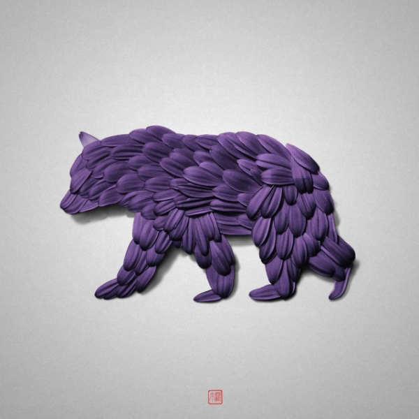 Цветочные животные, созданные художником Раку Иноуэ (15 фото)